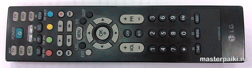 фото пульта управления плазменного ТВ lg 42pc3r