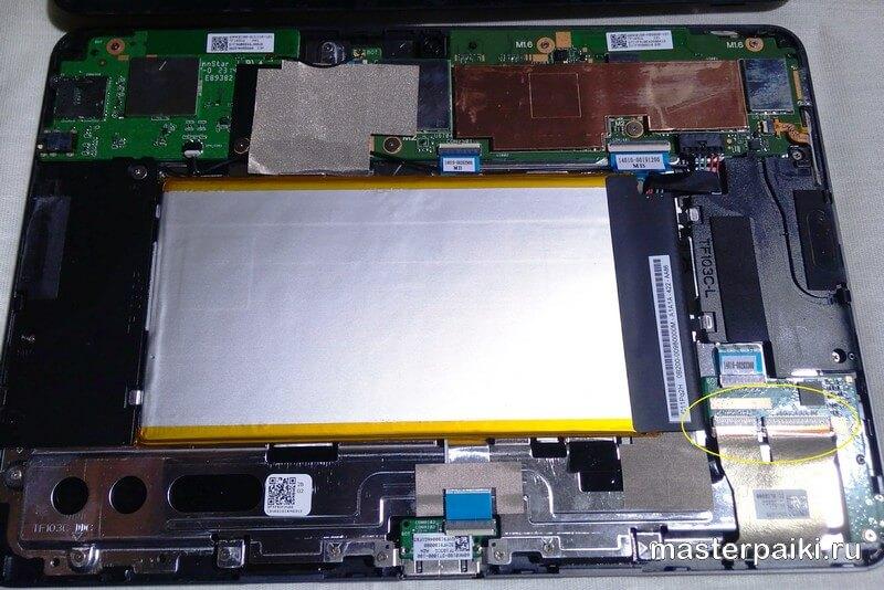 шлейф дисплея планшета ASUS Transformer Pad TF103C