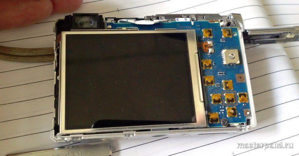 электроника фотоаппарата Sony DSC-W80