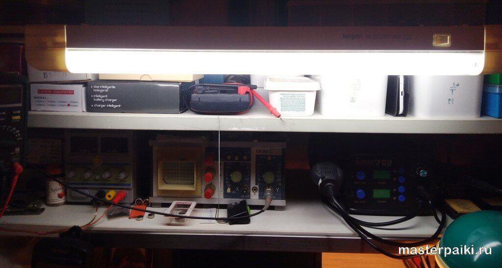 Ремонт лампы дневного света Navigator NEL-C2