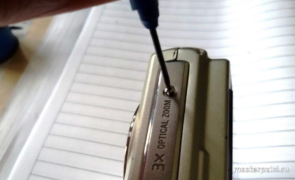 разборка фотоаппарата Sony DSC-W80 своими руками