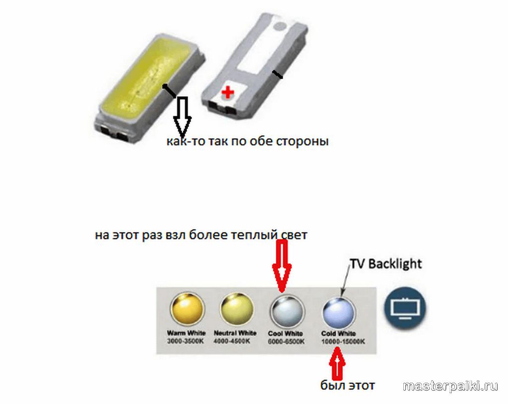 замена светодиодов монитора BenQ GL2450 T