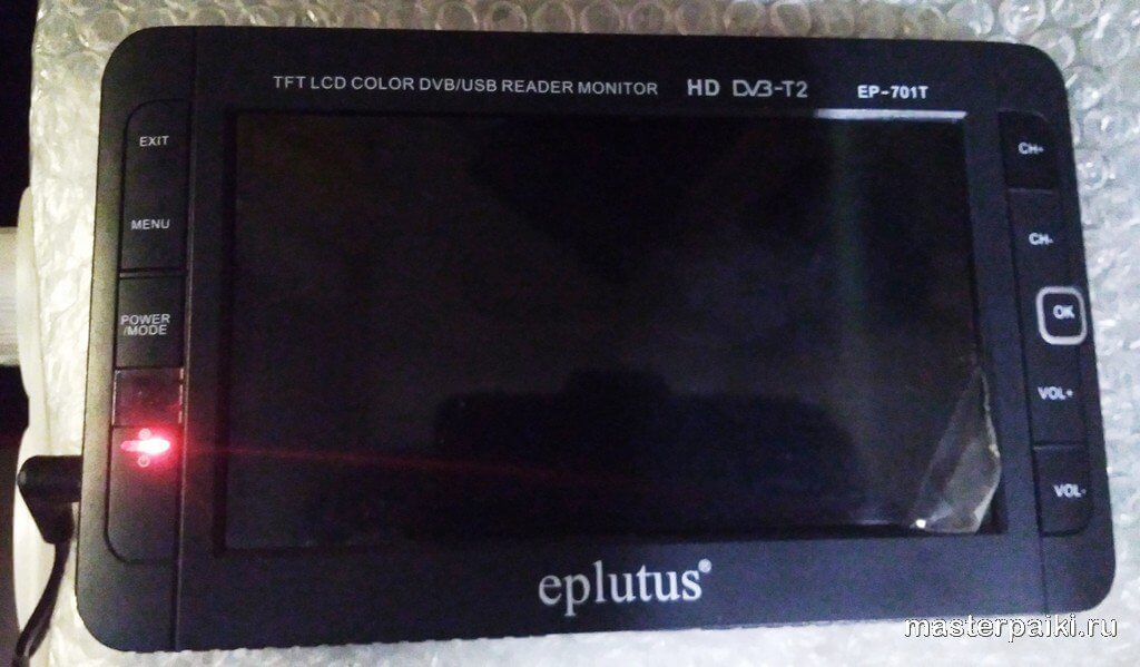 отремонтирован ЖК телевизора Eplutus EP-701T