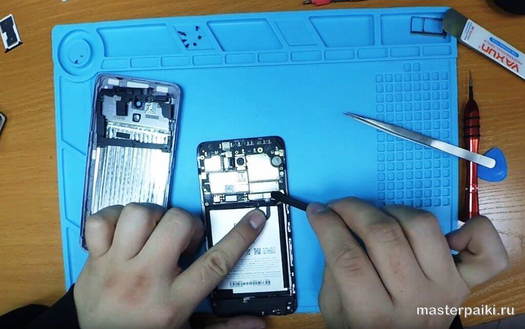 отключить аккумулятор Meizu M5 Note