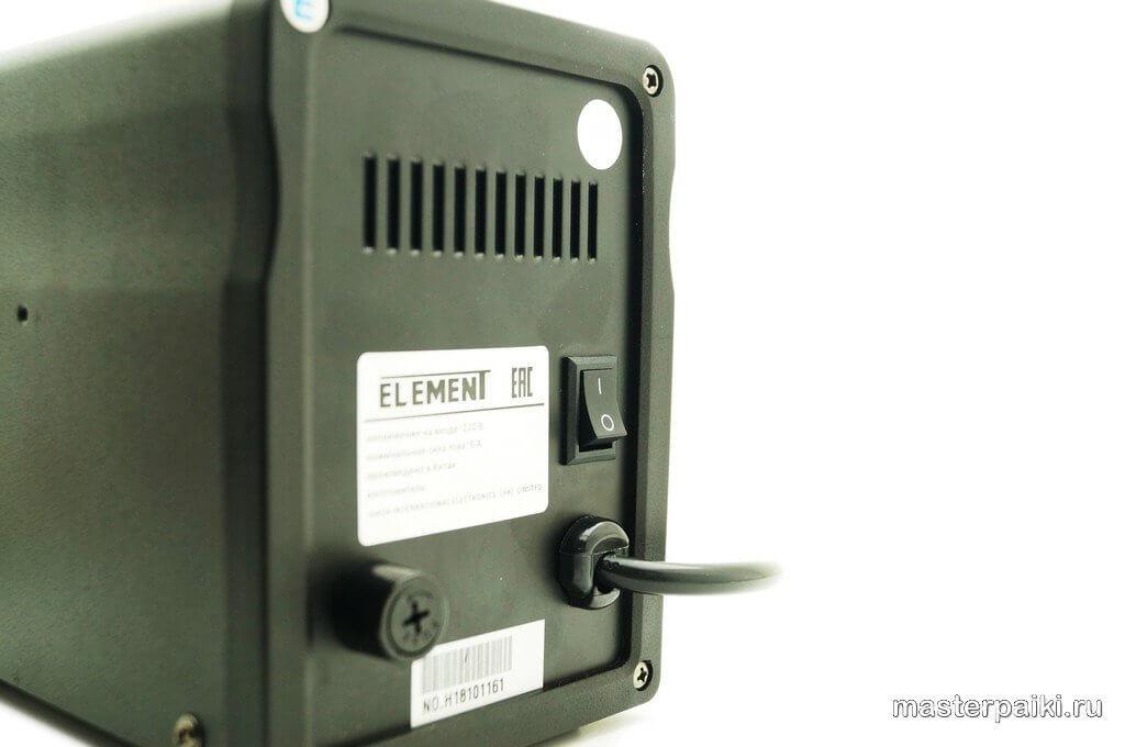 задняя панель термовоздушной паяльной станцииELEMENT 898BD