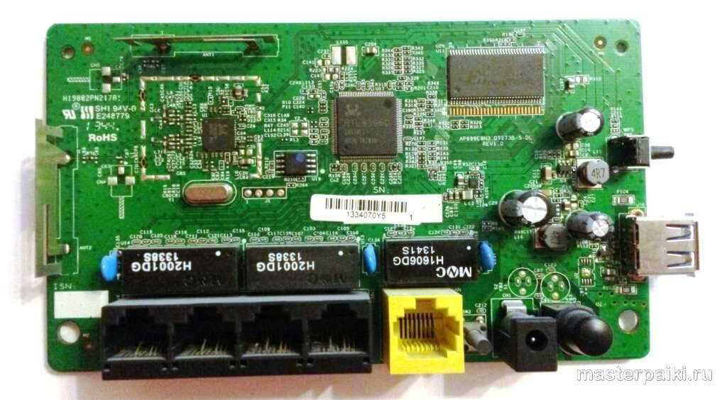 плата роутера D-link DIR-620