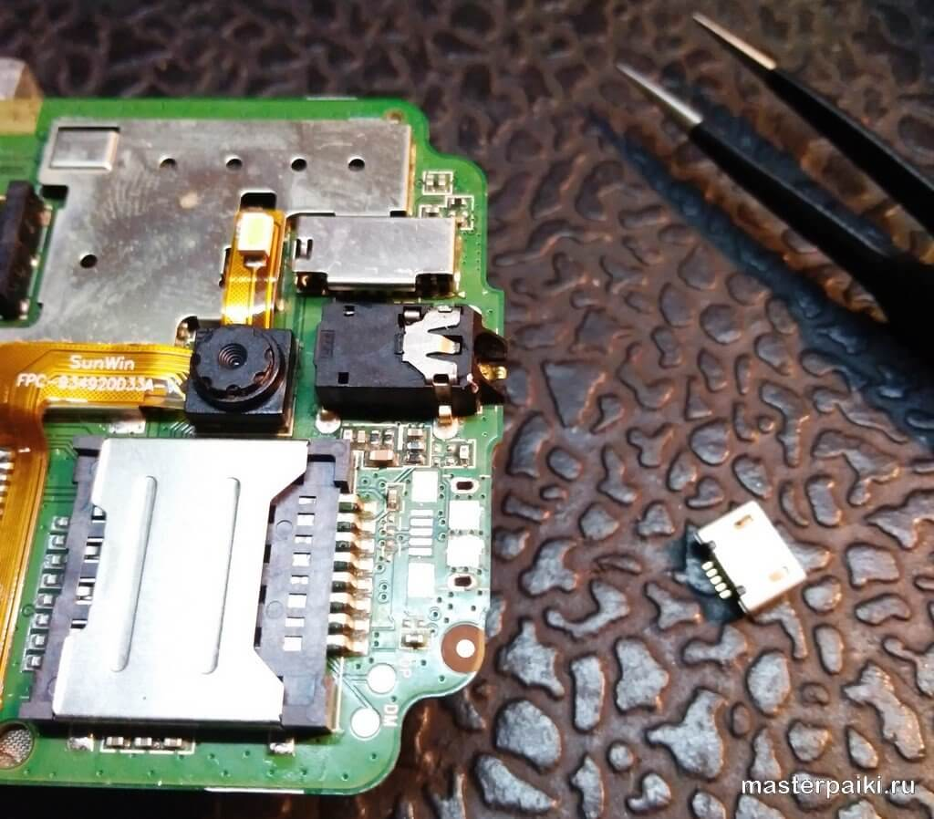 замена разъема телефона explay fin