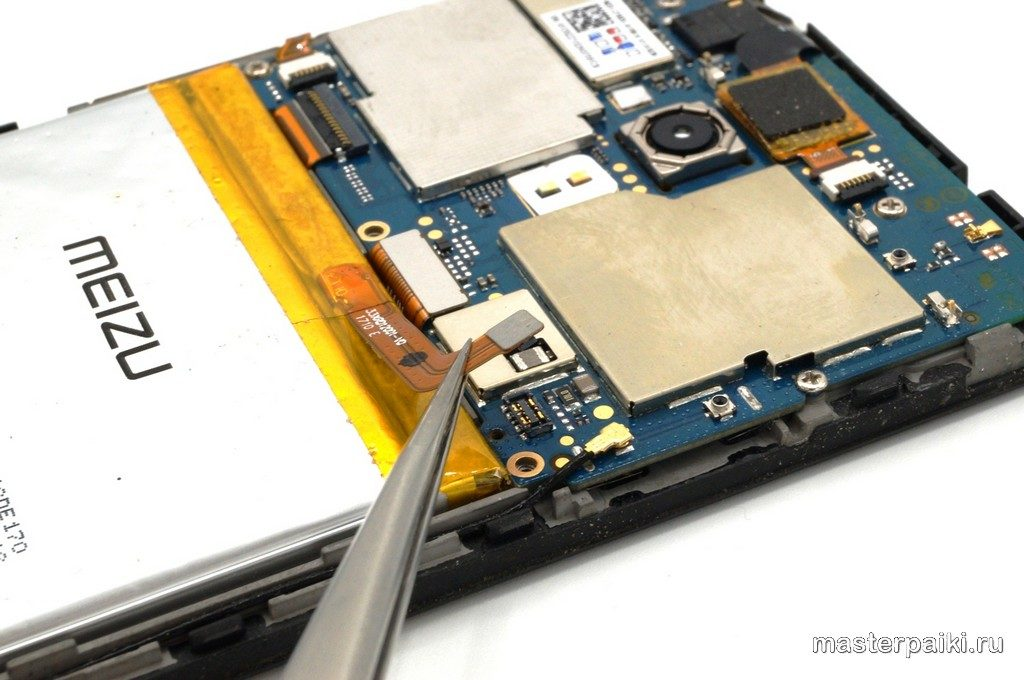 разборка смартфона шлейф аккумулятора Meizu M5s своими руками