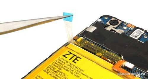 скотч для вытаскивания аккумулятора ZTE Blade A610
